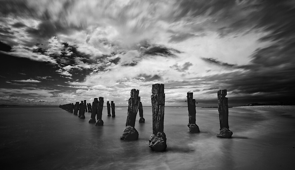 Jetty Remains by Janet Rogerson