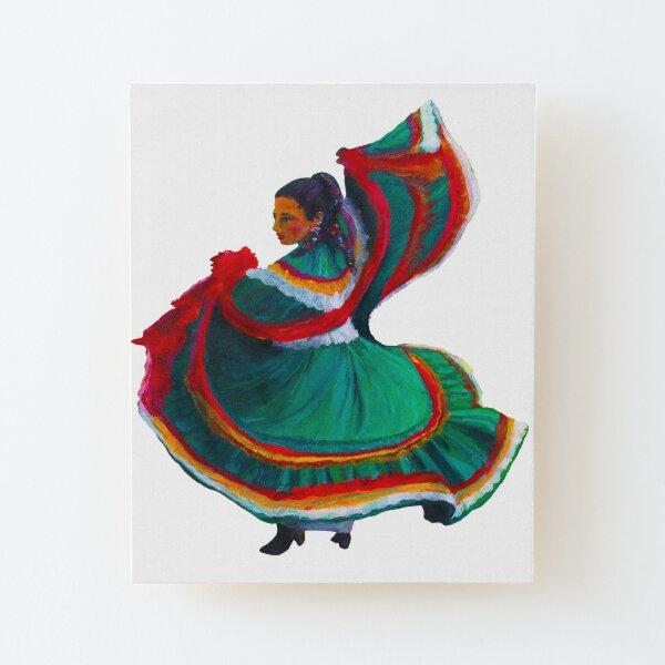 Baile Folklorico Vestido Verde Wood Mounted Print