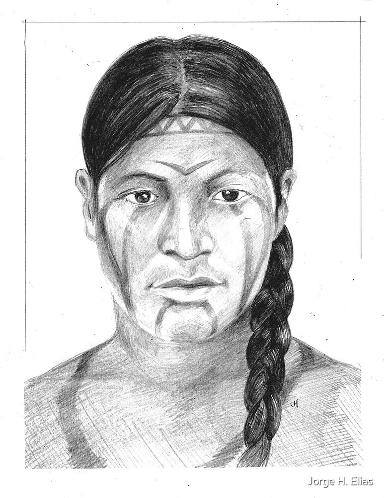 Borrado Indian Woman by Jorge H. Elias