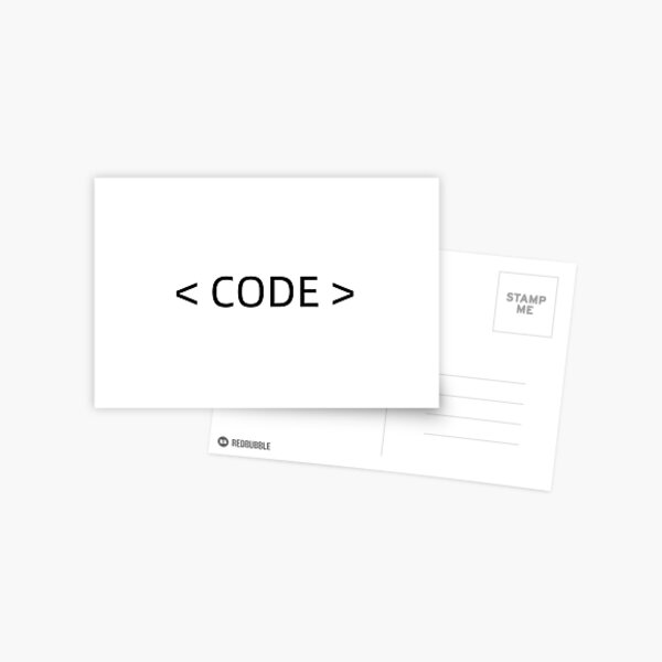 Codes Postcards Redbubble