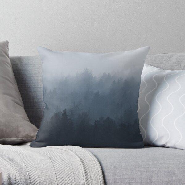 Misty Forest Throw Pillow
