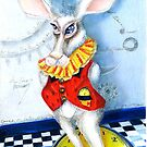 Wonderland Rabbit, It is Later than You Think,  by Alma Lee