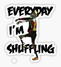 zombie shuffle Sticker