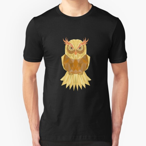 Design By Humans polygon owl Girls Youth Graphic T Shirt