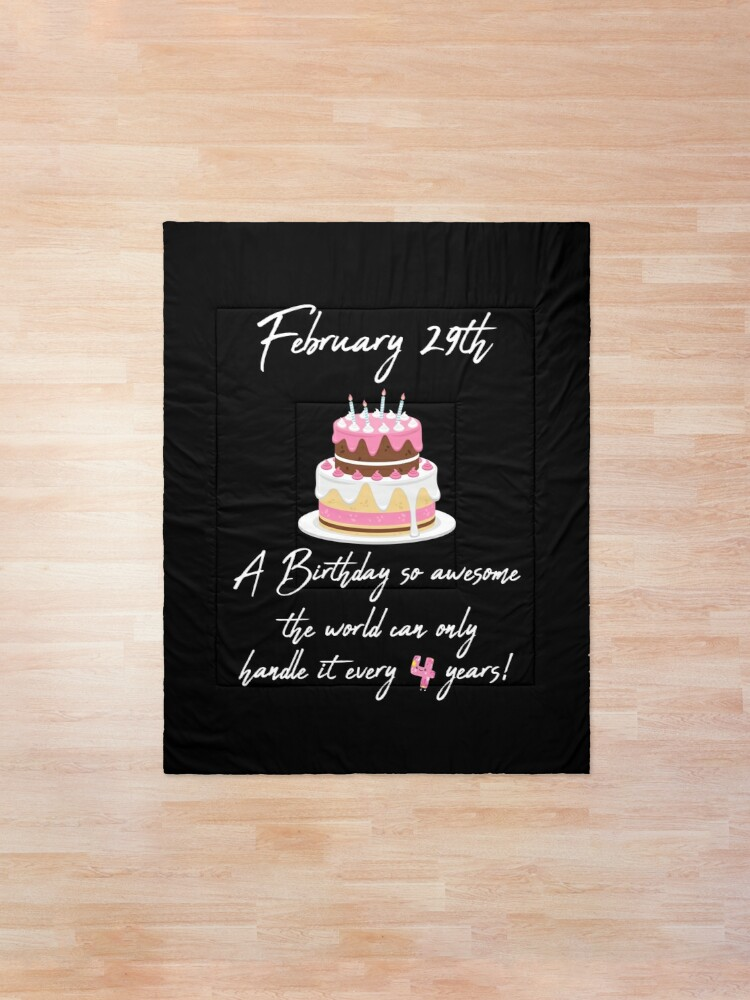 Excellent February 29Th Awesome Birthday Design Happy Birthday Cake Funny Birthday Cards Online Overcheapnameinfo