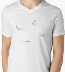 Baumwollchen T-Shirt mit V-Ausschnitt für Männer