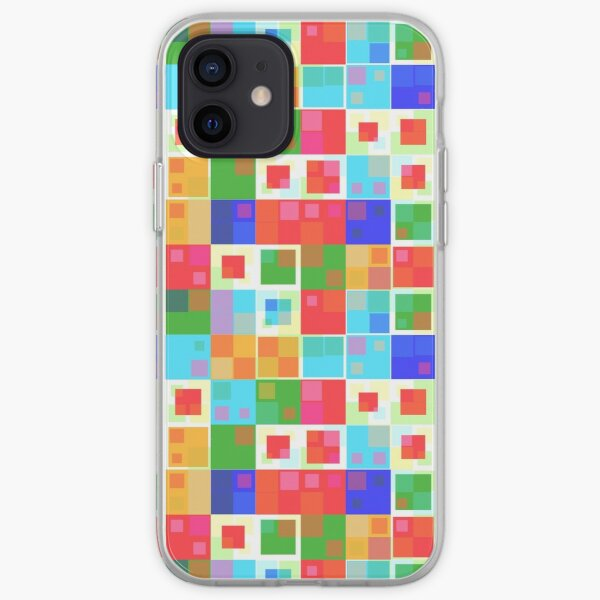 Colorful squares iPhone Soft Case