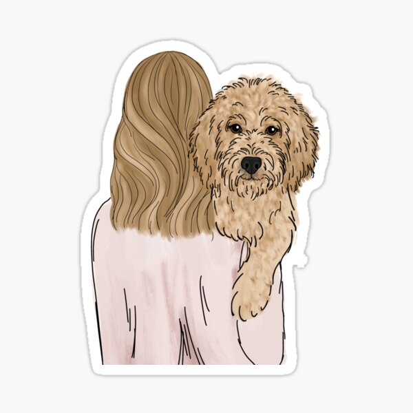 Goldendoodle Dog Mom Sticker