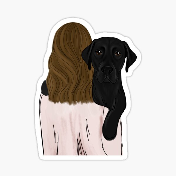 Black Lab Dog Mom Sticker