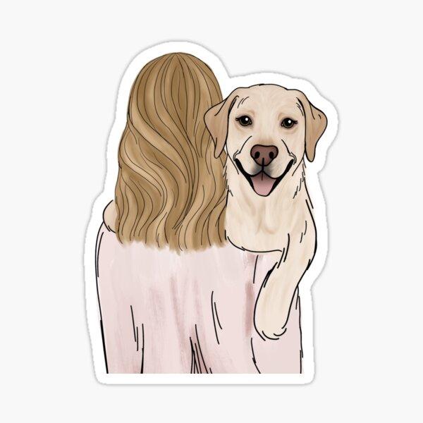 Yellow Lab Dog Mom Sticker