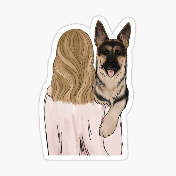 German Shepherd Dog Mom Sticker