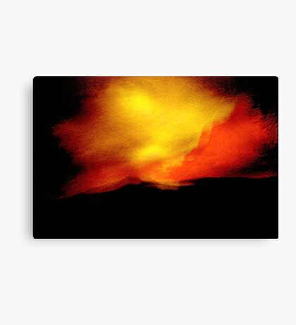sudden flare.... red yellow sky of indecision Canvas Print