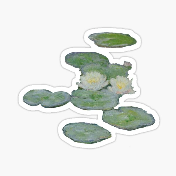 "Monet's ""Water Lillies, Evening Effect"" Sticker"
