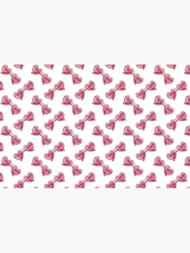 Sweet Lolita Pixel Art Bubblegum Pink Heart Sunglasses by evenstarhancock