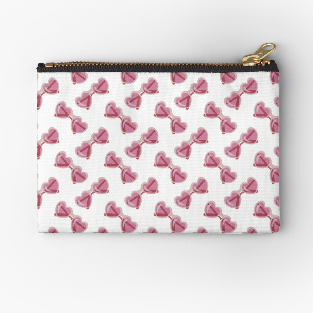 Sweet Lolita Pixel Art Bubblegum Pink Heart Sunglasses Zipper Pouch