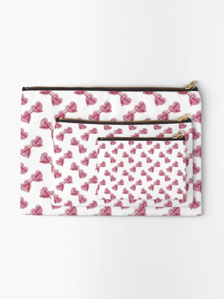 Alternate view of Sweet Lolita Pixel Art Bubblegum Pink Heart Sunglasses Zipper Pouch