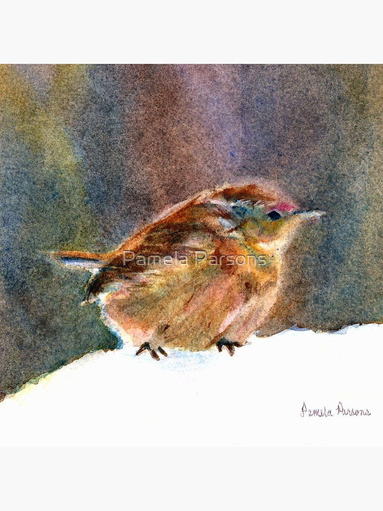 Mother Wren, from Watercolor Painting by Pamela Parsons by parsonsp