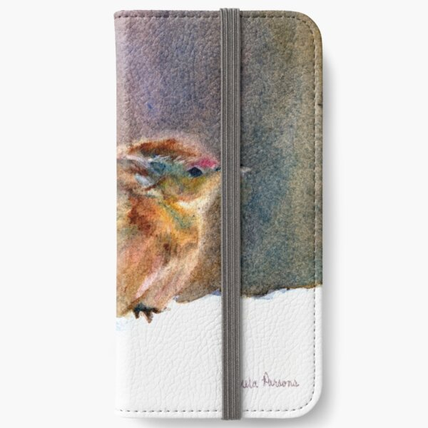 Mother Wren, from Watercolor Painting by Pamela Parsons iPhone Wallet