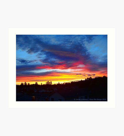 Rooftop Sunset Art Print