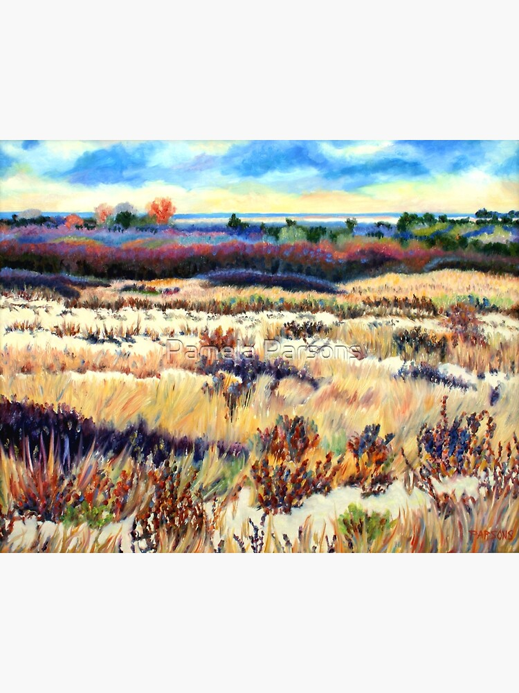 Winter Dunes, Long Beach Island, New Jersey, Jersey Shore, from impressionist oil painting by Pamela Parsons by parsonsp