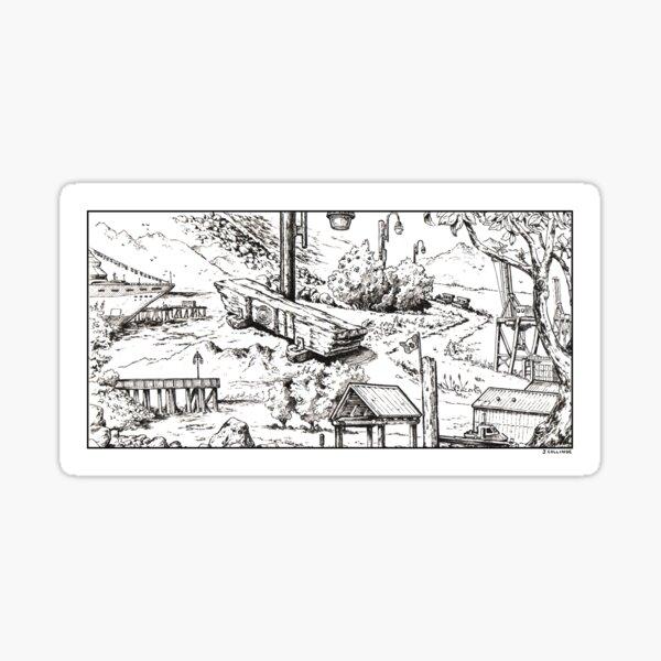 Vancouver Illustration - Crab Park/Portside Sticker