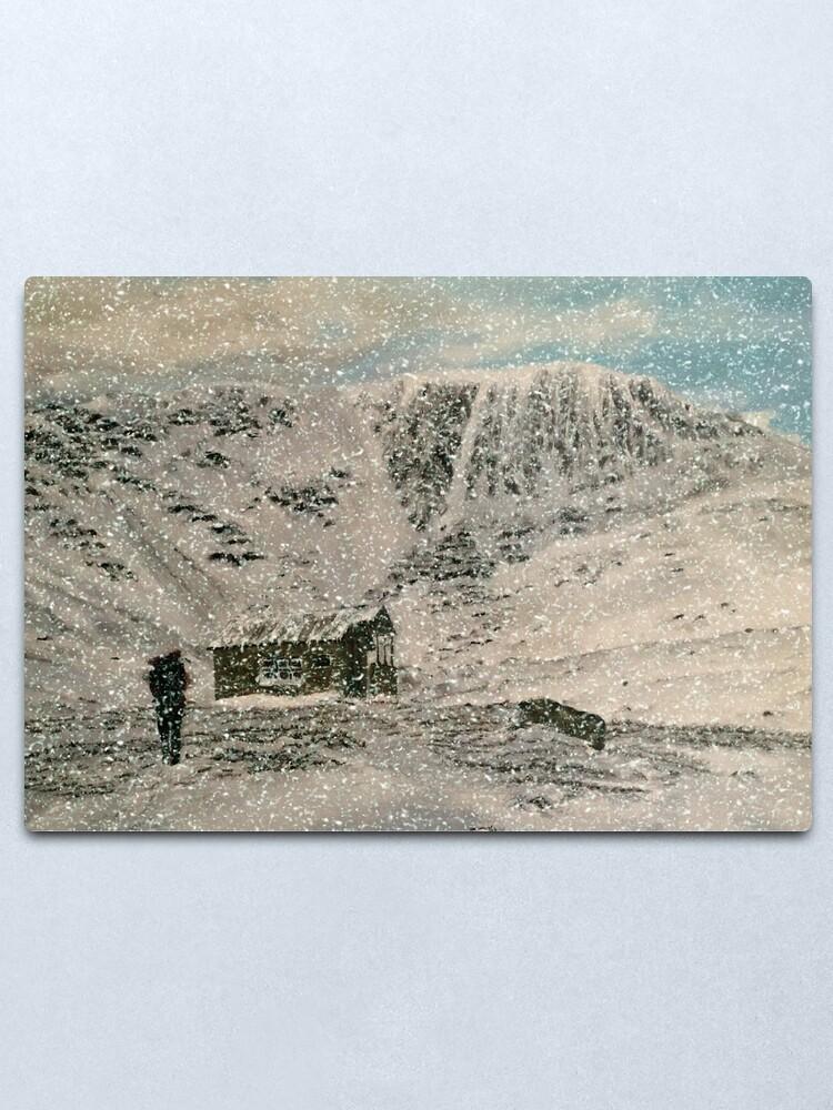 Alternate view of Snowy Scottish Highlands - Wall Art Metal Print