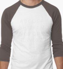 Canadian Alphabet Men's Baseball ¾ T-Shirt