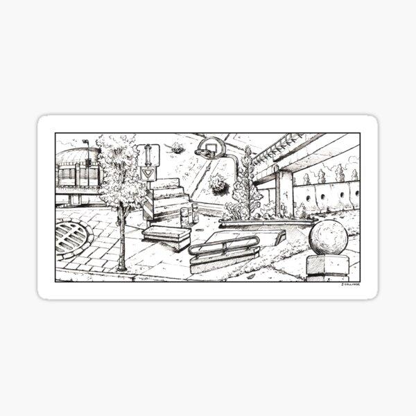 Vancouver Illustration - Expo Boulevard/Stadium Sticker