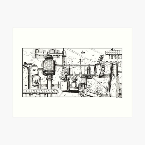Vancouver Illustration - YVR/Vancouver Airport Art Print