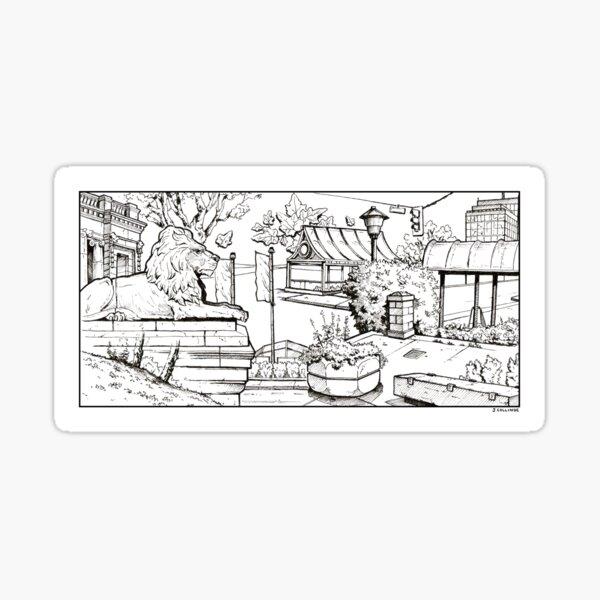 Vancouver Illustration - Robson Square Sticker