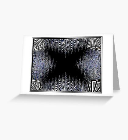 Black Butterfly Greeting Card