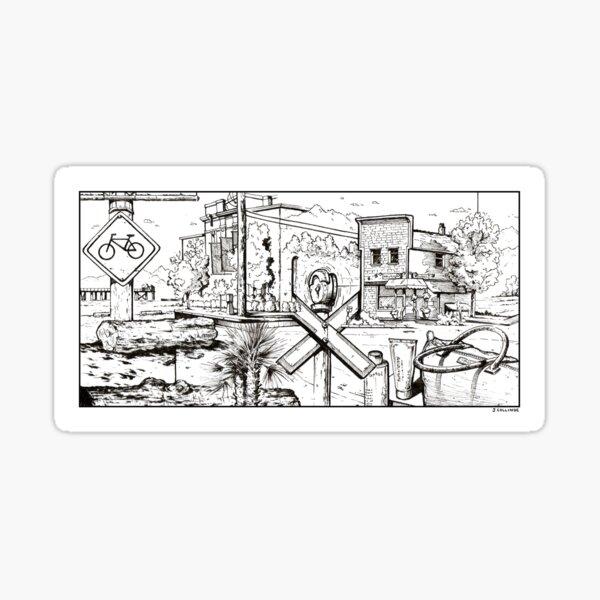 Vancouver Illustration - Kitsilano Sticker