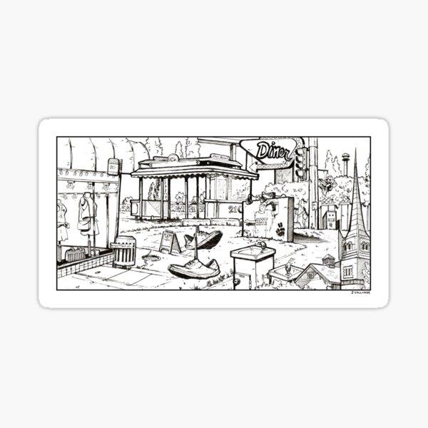 Vancouver Illustration - Mount Pleasant Sticker