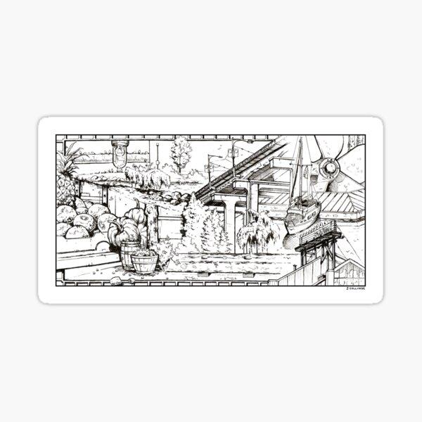 Vancouver Illustration - Granville Island Sticker