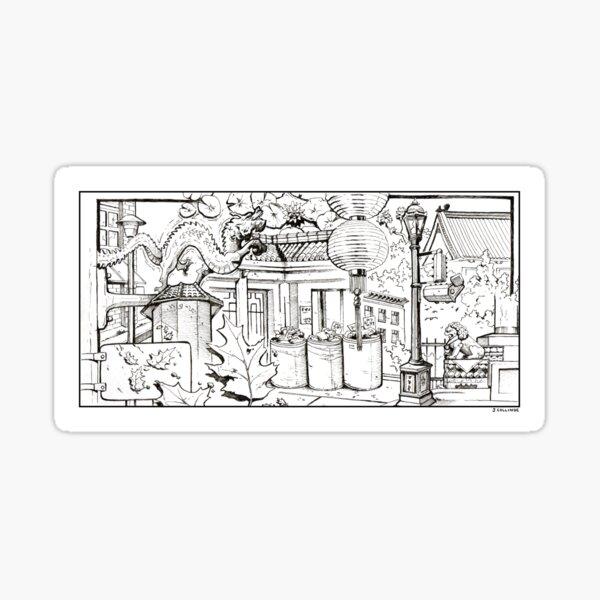 Vancouver Illustration - Chinatown Sticker