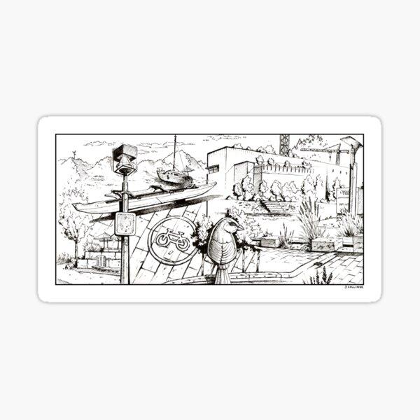 Vancouver Illustration - False Creek/Olympic Village Sticker