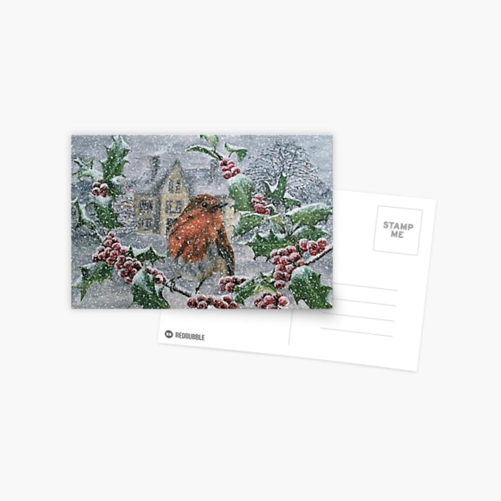 Very Snowy Robin Postcard Postcard