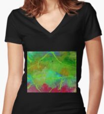 Electric Feel Women's Fitted V-Neck T-Shirt