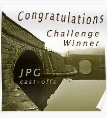 Congratulations Challenge Winner Sepia Poster