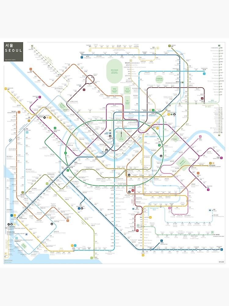 Seoul metro map by jugcerovic