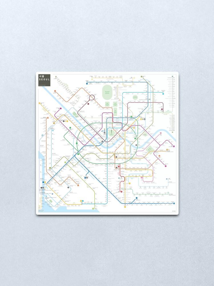 Alternate view of Seoul metro map Metal Print