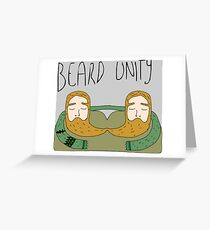 Bearded men unity Greeting Card