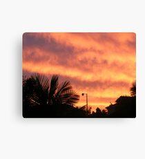 Orange Sunset In Suburbia Canvas Print