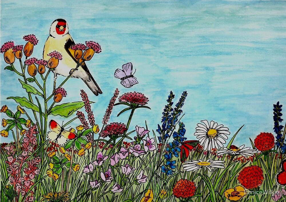 Flower Meadow - Bedding & Blankets by EuniceWilkie
