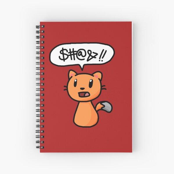 Cursing cat Spiral Notebook