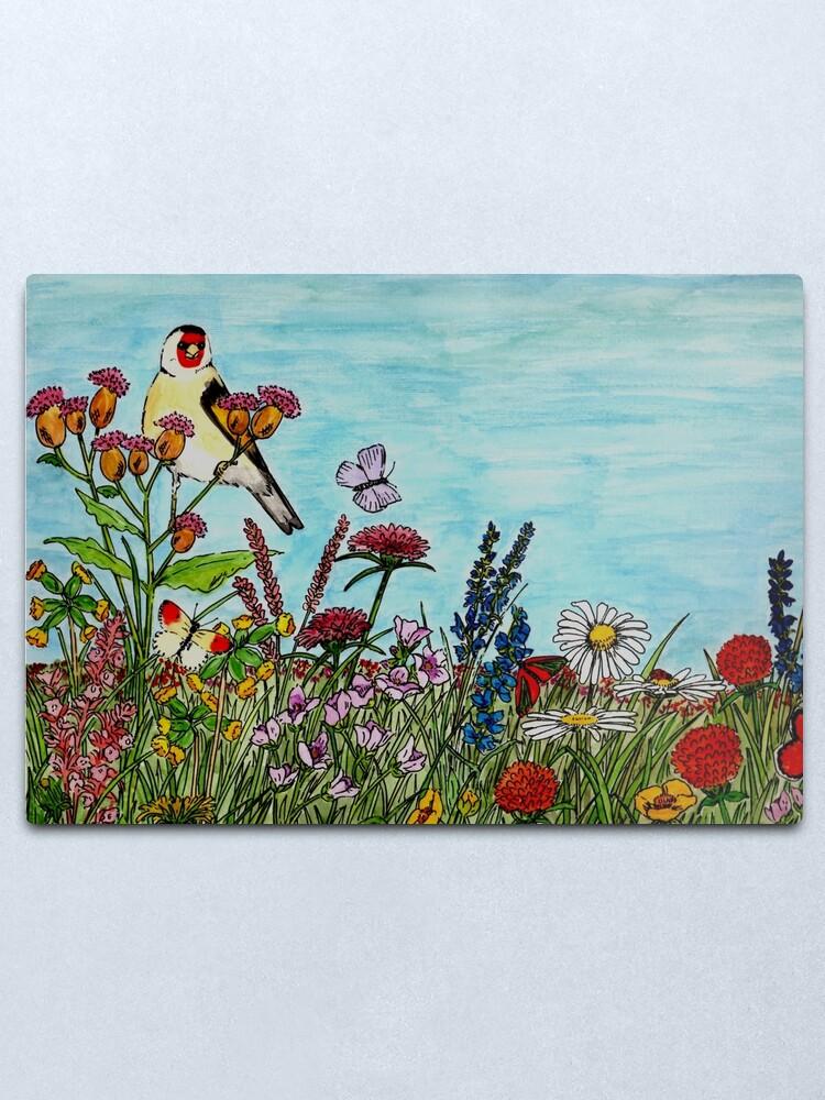 Alternate view of Flower Meadow - Wall Art Metal Print