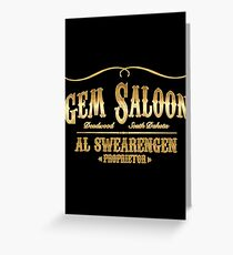 Gem Saloon vintage Greeting Card