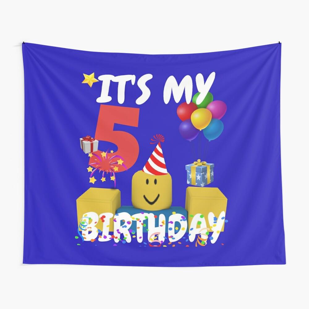 Roblox Noob Birthday Boy It S My 5th Birthday Fun 5 Years Old Gift