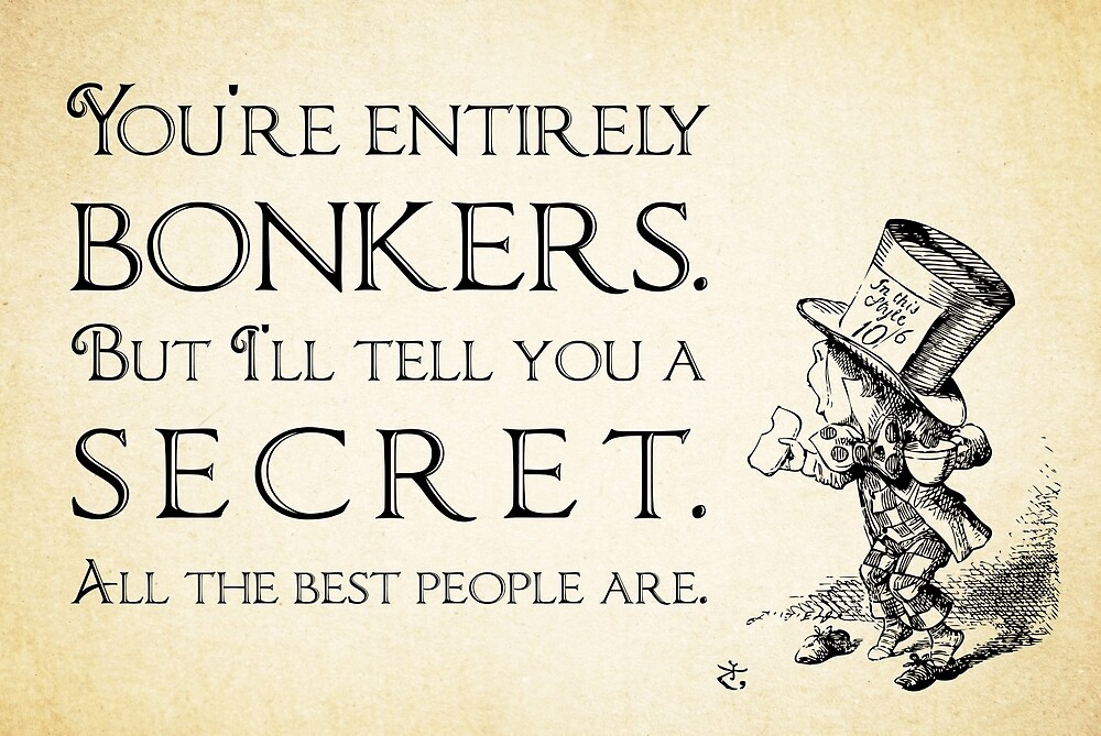 alice in wonderland quotes about madness