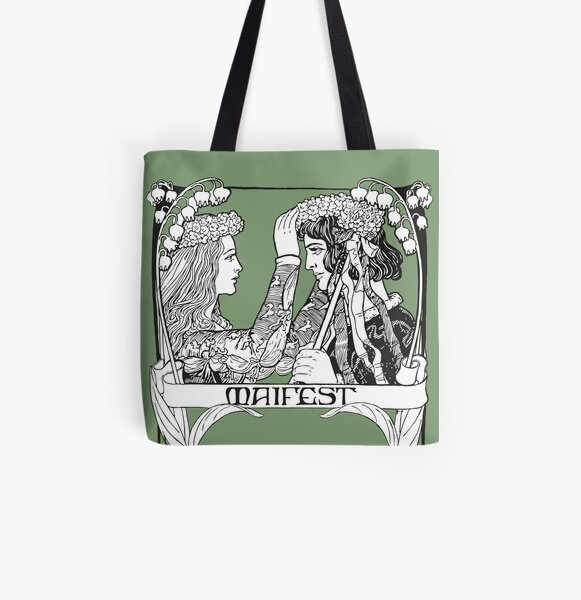 May Day Art Nouveau All Over Print Tote Bag